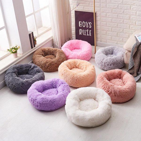 Super-Soft-Dog-Bed-Round-Washable-Long-Plush-Dog-Kennel-Cat-House-Velvet-Mats-Sofa-For-7