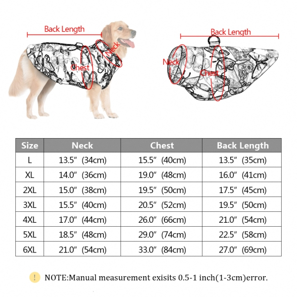 Waterproof Jacket Small, Medium and Large Dogs(1)