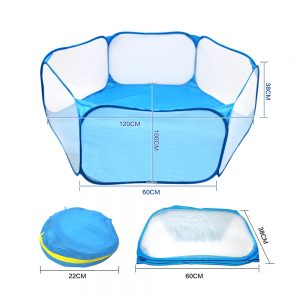 Small Pets Cage Tent For Small Dogs, Rabbits, Hamster, Chinchillas Blue III