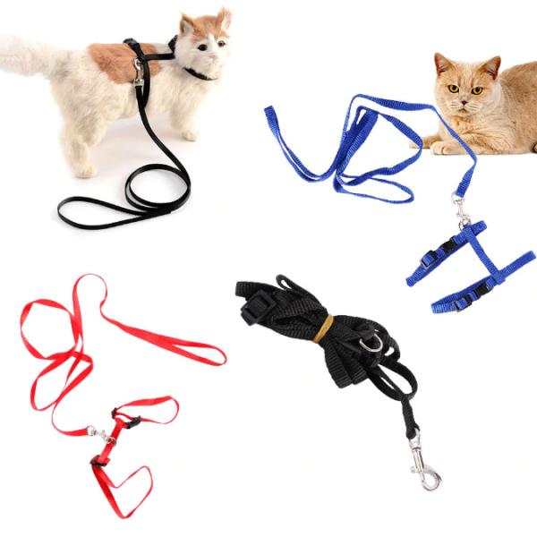 Pets Collar Harness Leash Adjustable(1)