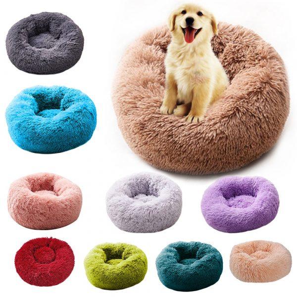 Super-Soft-Dog-Bed-Round-Washable-Long-Plush-Dog-Kennel-Cat-House-Velvet-Mats-Sofa-For